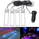 12v 4 en 1 Décoration de LED Lumière pour Plancher Intérieur de Voiture