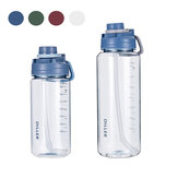 DILLER 34oz/68oz 2000ml Large Capacity Water Bottles With Detachable Straw Portable Outdoor Sport Cycling Travel Drink Kettle