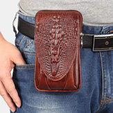Hommes EDC en cuir véritable rétro 5,5 6,5 pouces support de téléphone taille sac de ceinture