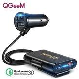 QGEEM CH12 QC 3.0 4USB سيارة شاحن الأمان Hammer LED مؤشر سريع شحن محول آيفون XS 11Pro Mi 9ملحوظة 9S S20 + ملحوظة 20