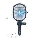 LIBERFEEL 2-in-1 Electric Fly Mosquito Swatter 1800mAh USB/Magnetic Rechargeable 3-Layer Safety Mesh Bug Zapper Racket LED Night Light Camping Travel
