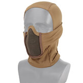 Passamontagna Mesh Maschera Tactical Gear Full Face Collo Cappuccio da ciclismo da caccia Airsoft CS