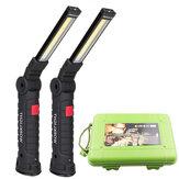 [Встроенный 18650 Батарея] XANES COB LED Многофункциональный складной комплект рабочего света USB аккумуляторная LED Фонарик USB-кабель Авто Зарядное