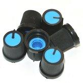 50Pcs الأزرق البلاستيك لثقب مستدق الروتاري ثقب 6mm المقبض