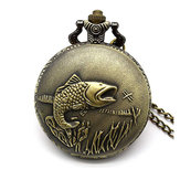 DEFFRUN Big Auspicious Fish Pocket Watch