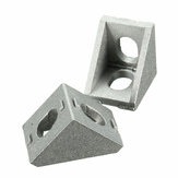 Suleve ™ AJ20 Aluminium Angle Corner Joint 20x20mm Fitting Furnitur Braket Sudut Kanan 10 pcs