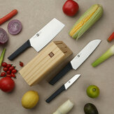 HuoHou 4 Pcs Non-Stick Stainless Steel Kitchen Knife Set Chef Knife Chopper Cleaver Slicer Fruit Knife Blade from