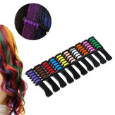 6Pcs/Set Disposable Hair Dye Combs Hair Dye Color Cream Hair Multicolor Chalk Powder With Comb Crayons Hair Dyeing Tool