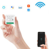 SMATRUL 16A 10A MINI Tuya WiFi Switch Led Light Smart Life Push Module Supports 2 Way APP Voice Relay Timer Google Home Alexa