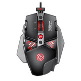 K-snake G9 Wired Gaming Mouse 6400DPI 8 Buttons 9 RGB Backlit Optical USB Game Mouse for Computer Laptop PC Gamers