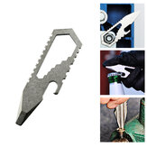 TITANER 4-in-1 EDC Mini Multitools Pocket Keychain Wrench Slotted Screwdriver Bottle Opener Portable Outdoor Camping Climbing
