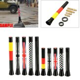 7,7cm / 10,7cm Union Jack UK GER Vlag Carbon Fiber Grid Car Antenna