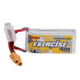 Sologood 7.4V 1500mAh 25C 2S Li Battery XT60 Plug RC Car Parts 70*34.5*17mm
