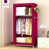Double couches simple armoire organiser stockage tissu armoire étudiant dortoir fournitures pour la maison