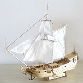 Buque de madera de 310 mm Modelo DIY pesca barco Láser Juegos de modelo de ensamblaje de corte Juguetes regalo