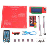 3D Printer Kit RAMPS 1.4+ Mega 2560 + DRV8825 Stappenmotor + 2004 LCD + PCB Warmtebed MK2B