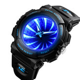 SKEMI 1521 Dial criativo LED Backlight Men Quartzo Assistir