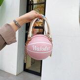 Cadeias de basquete para mulheres Casual PU Handbag Crossbody Bolsa