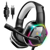 EKSA E1000 Gaming Headphone 7.1 Virtual Surround RGB Light USB Professional Gaming Headset with Noise Cancelling Mic for PC PS4 XBOX Laptop