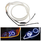 85 centimetri Flessibile LED Soft Tubo guida Light Car Bianco DRL Strip Ambra Turn Signal Lamp 2PCS