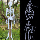 Halloween Luminous Fluorescent Skull Hanging Ghost Party Terrifying Atmosphere Decoration Toys Supplies Indoor Outdoor