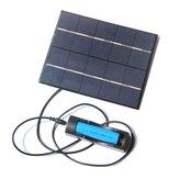 3.5W 5V charge de panneau solaire 130 * 165mm avec 18650 Batterie cas