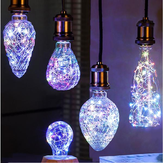 E27 3W Vintage Edison LED Multi-color Holiday Democratic Bulbo para festa Natal AC85-265V