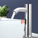 Inducción Sensor Grifo de acero inoxidable Sensor Grifo Lavabo frío individual Sensor Grifo Grifo de agua fría y caliente