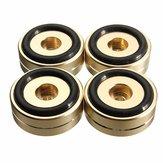 4st 40x15mm Isolatie Luidspreker Stand Basis Draaitafel Gouden Voet Pad