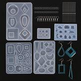 245pcs fai da te Silicone orecchino pendente resina stampo resina epossidica creazione di gioielli Strumenti