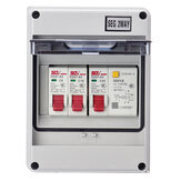 2Way Garage Caravan Consumer Unit 40A Power Switch Circuit Breaker IP65 Household Mall Use