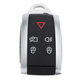 5 Buttons Remote Keyless Fob Case Shell with Uncut Key Blade For Jaguar XF XK XKR