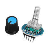 5pcs Rotating Potentiometer Knob Cap Digital Control Receiver Decoder Module Rotary Encoder Module Geekcreit for Arduino - products that work with official Arduino boards