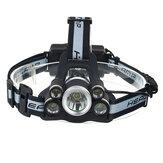 BIKIGHT1700LM5T6LED5modos 18650 faro de bicicleta recargable USB con silbato de ayuda SOS