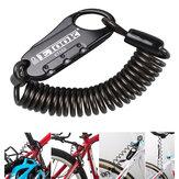 BIKIGHT ET-152 Mini Portátil Anti Rear Theft Bike Casco de Bicicleta de 3 Dígitos cerradura Spring Combination