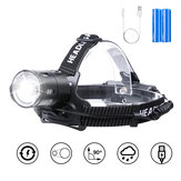 OUTERDO 3500LM XHP50 Zoomable LED Head Torch Ultra Bright Headlamp + 2Pcs 3200 mAh USB Rechargeable Batteries for Fishing Hunting Camping Hiking