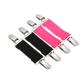 70x25mm Stretchable Fixed Clamp Clip Extender Webbing Alloy for Pants Bed Sheet