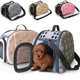Portable Small Pet Dog Kattsidet Carrier Travel Tote Skuldertaske Cage House