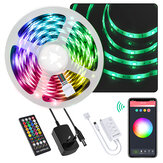 BlitzWolf® BW-LT34 5M WiFi RGB Music LED Kit de tira + EU / US Plug + 40 keys IR Controle Remoto Funciona com Alexa Google Assistant Christmas Decorations Clearance Christmas Lights