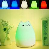 Şarj Edilebilir Renkli Değiştirilebilir Silikon LED Ev için Hassas Şapkalı Kontrol Gece Işığı