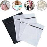 Sacs à linge pliables Chaussettes Sous-vêtements Sac de protection pour machine à laver Organisateur de stockage à mailles zippées