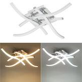 Moden LED 4 luzes de teto de luz interna de cetim níquel para cozinha lâmpada de quarto AC85-265V