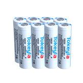 Tokeyla8Pcs2600mAh18650 Bateria 3.7 V Protegido Lanterna Recarregável Poder Camping Caça Portátil Li-ion Bateria