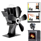 IPRee® 8.8inch 5 Blades Fireplace Fan Wood Burner Stove Thermal Heat Power Fan