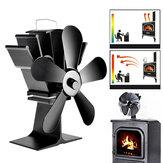 IPRee®8,8pol.5LâminasLareira Ventilador Queimador a lenha Ventilador térmico de energia térmica