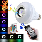 E27 LED RGB Bluetooth Динамик Лампочка Wireless 12W Power Music Playing Light Лампа