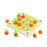 Wooden Pull Out Carrot Memory Chess Puzzle Intelligence Parent-child Interaction Board Game Toys