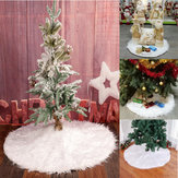 90cm sneeuw pluche kerstboom rok base vloermat cover kerstfeest decoraties