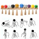 Wood Kendama Toy Professional Solid Skillful Juggling Ball Children Game Skill Toy
