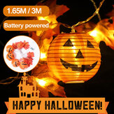 1.65M 3M Halloween Pumpkin LED String Light Waterproof Party Garden Home Decoration